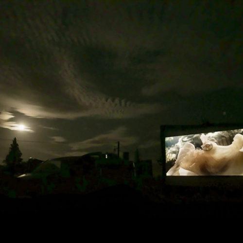 Projection en plein air
