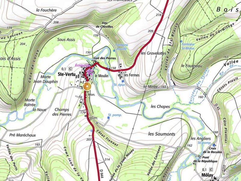 Carte géographique de Sainte Vertu